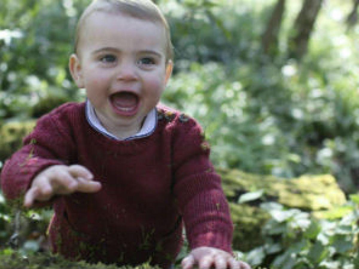Duques de Cambridge revelan tiernas fotos del príncipe Louis en su cumpleaños