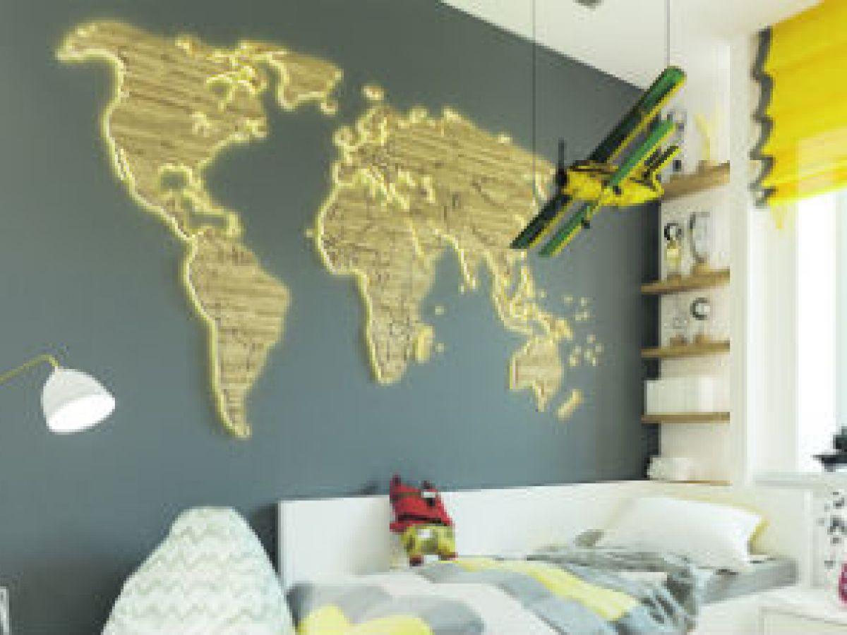6 trucos para decorar con mapas