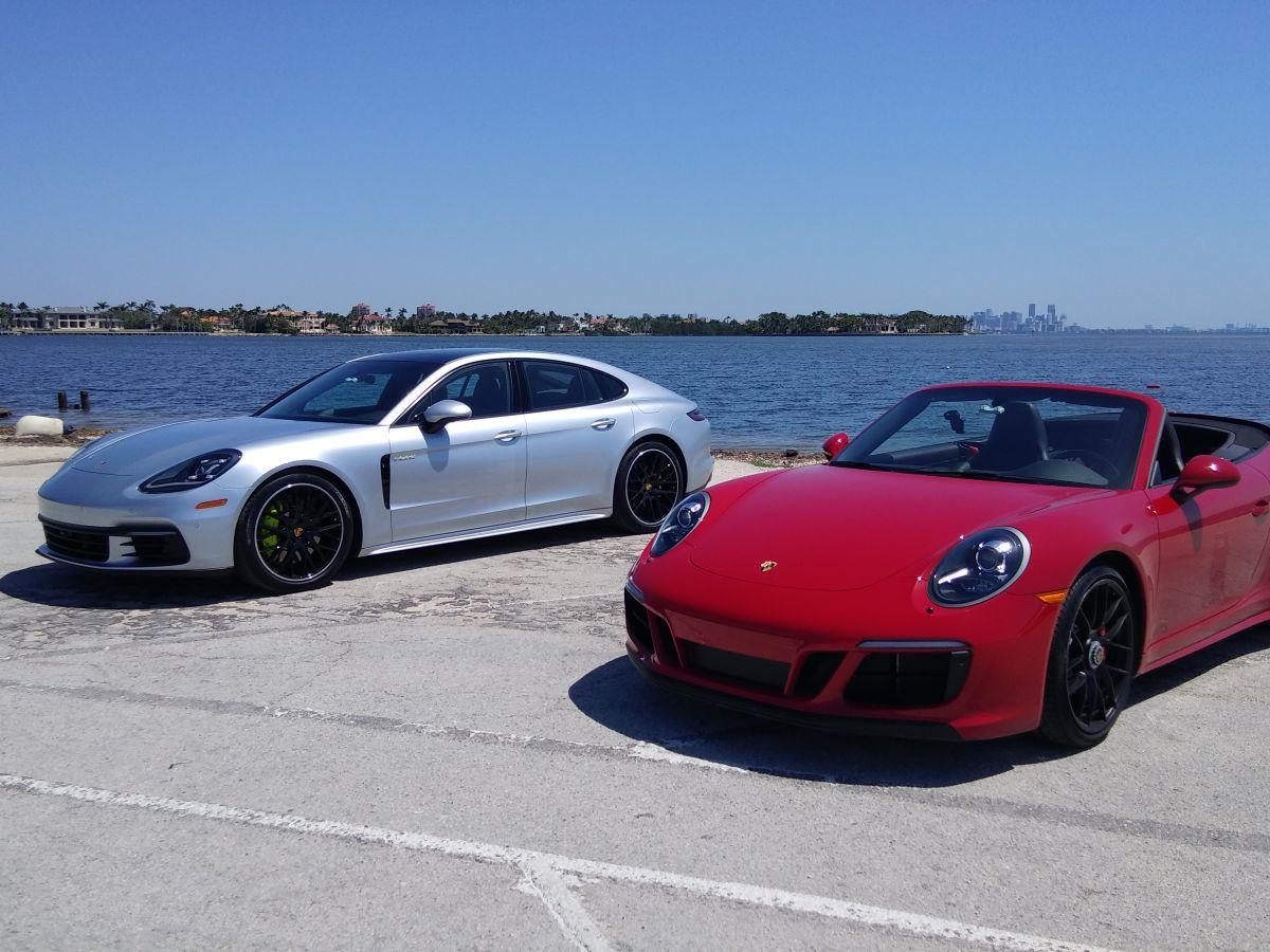La buena vida de Miami, montados en un Porsche