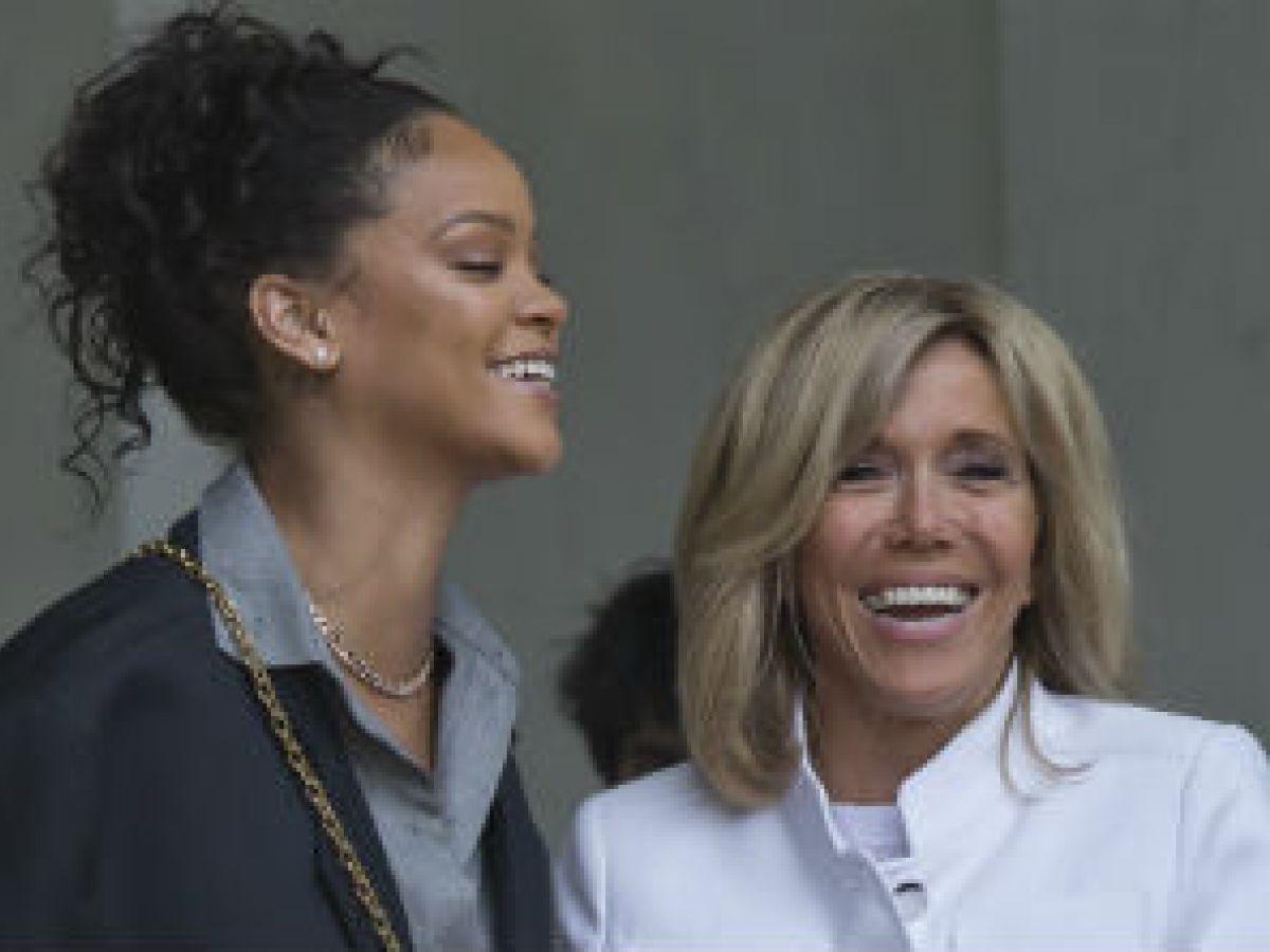 Rihanna y Emmanuel Macron se reúnen para discutir el tema de la educación en países subdesarrollados