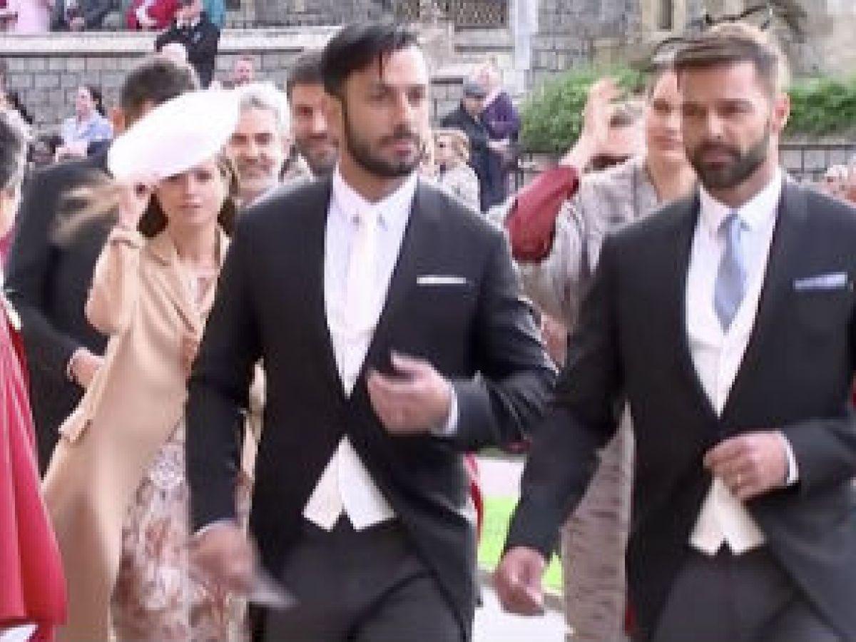 Ricky Martin y su esposo asistieron a la boda de la princesa Eugenie