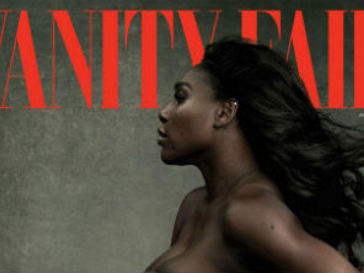 Serena Williams posa embarazada y desnuda para Vanity Fair