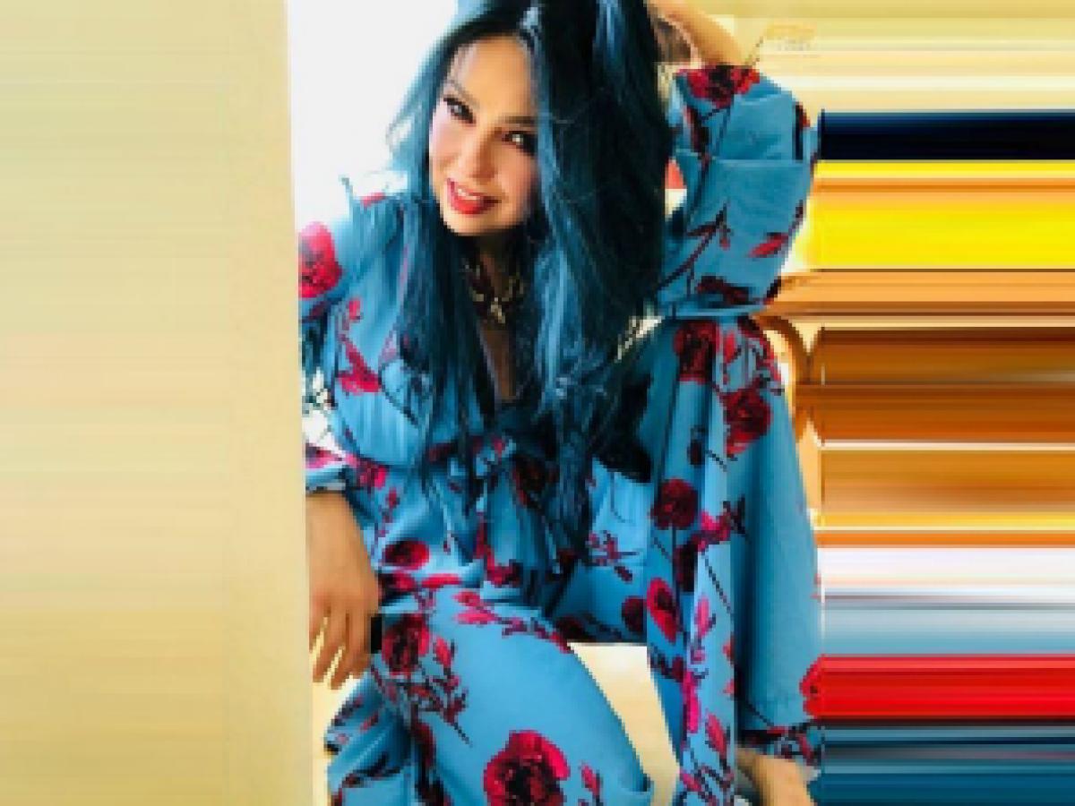 Thalía se apunta a la tendencia del pelo de colores