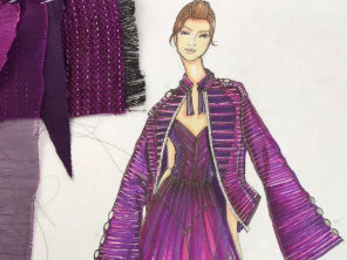 El violeta como punto de partida para diseñadores y artistas locales
