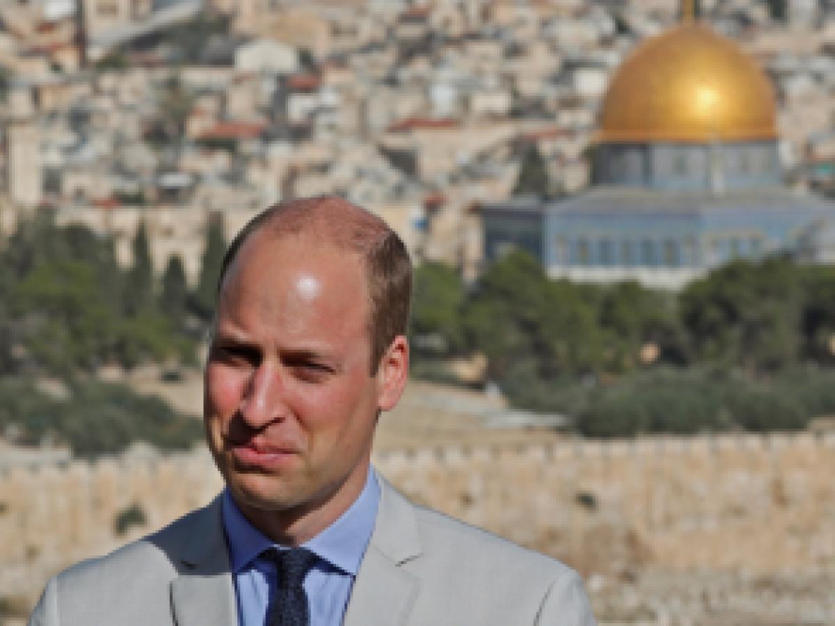 El príncipe William finaliza su viaje en los lugares sagrados de Jerusalén