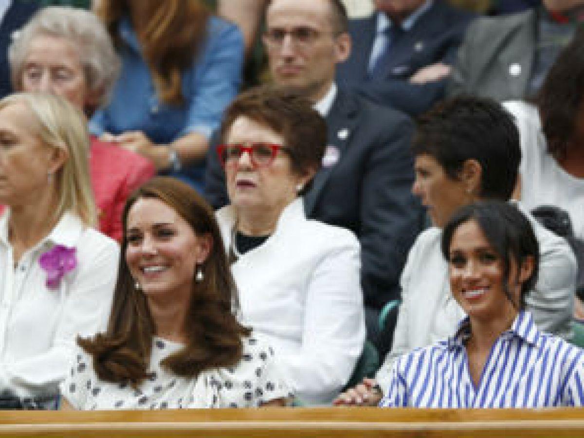 Meghan Markle y Kate Middleton asisten a la final de Wimbledon