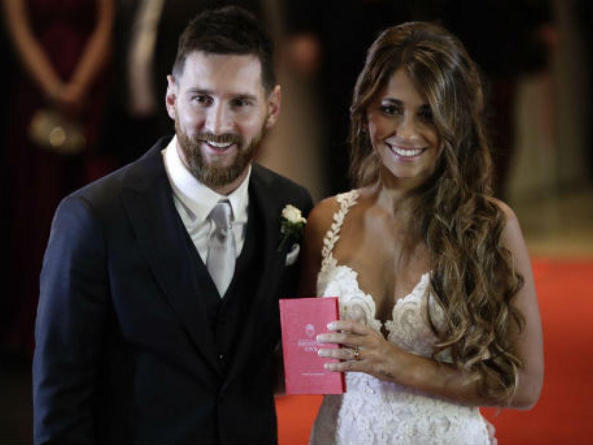Alfombra roja de la boda de Messi y Roccuzzo