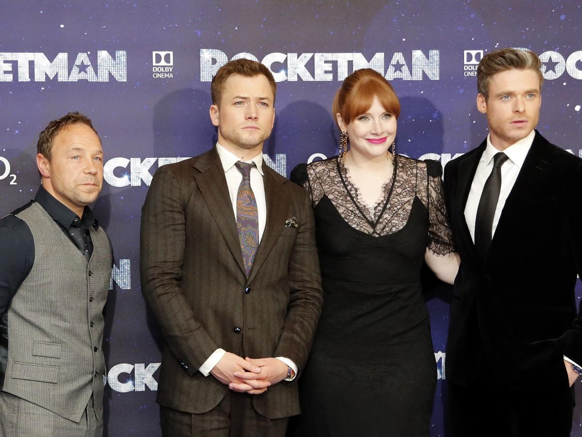 """En la noche de estreno de """"Rocketman"""", la película biográfica de Elton John"""