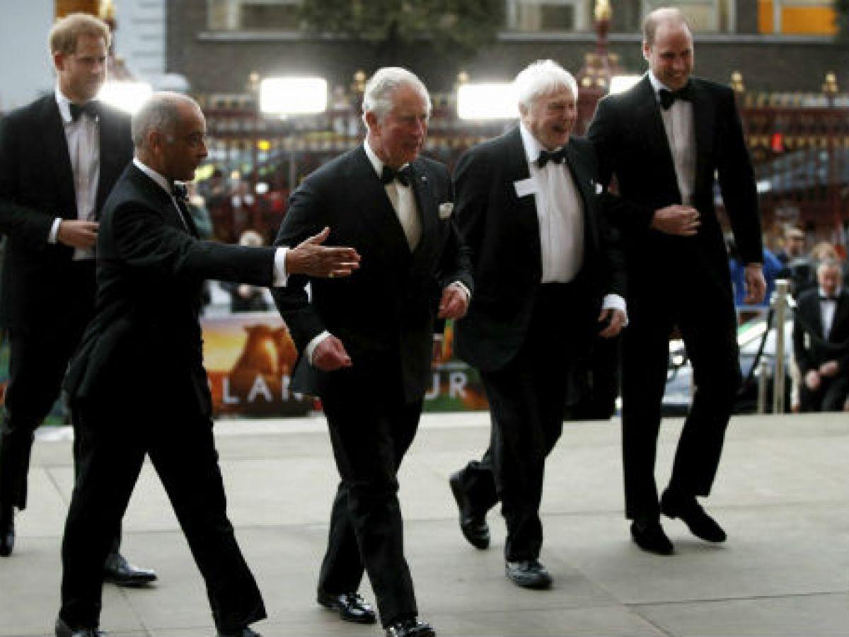 El príncipe Charles y sus hijos asisten a estreno de documental de Netflix