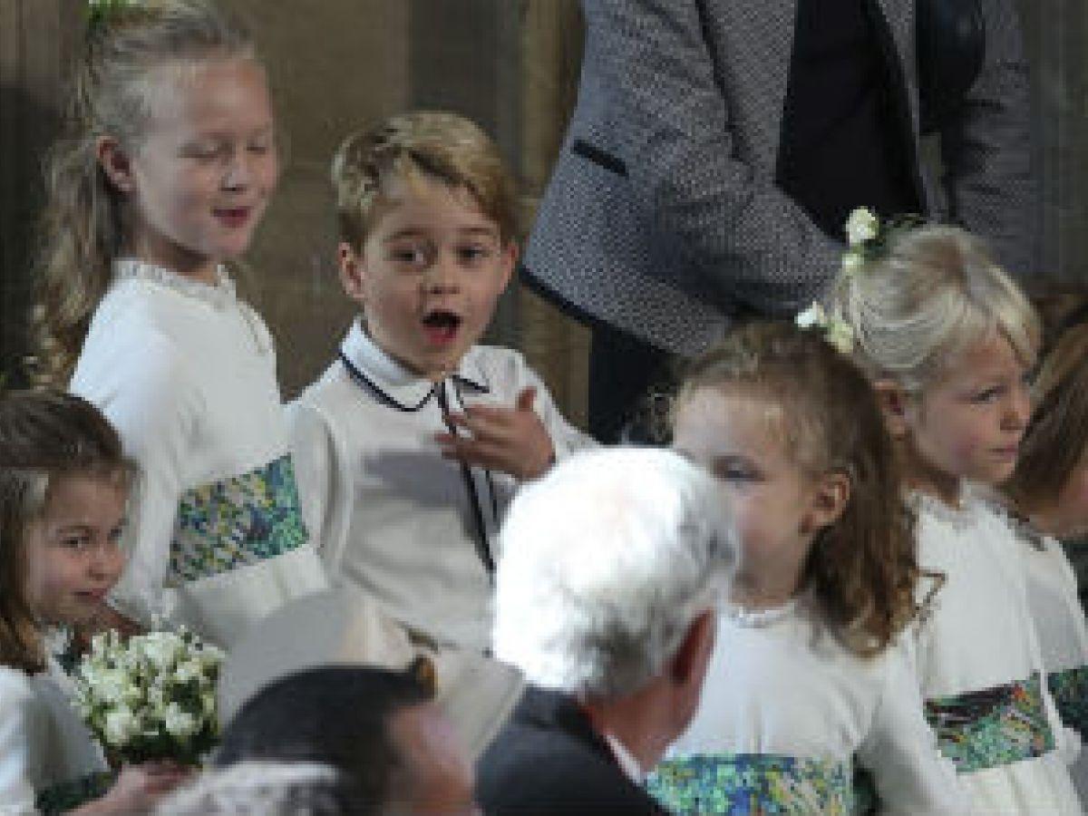Las tiernas expresiones del príncipe George durante la boda de Eugenie