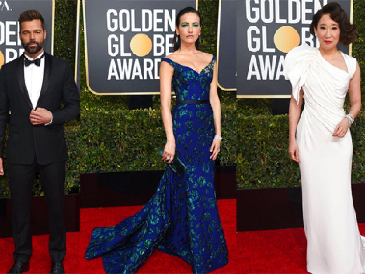 Los más elegantes de la alfombra roja de los Golden Globes