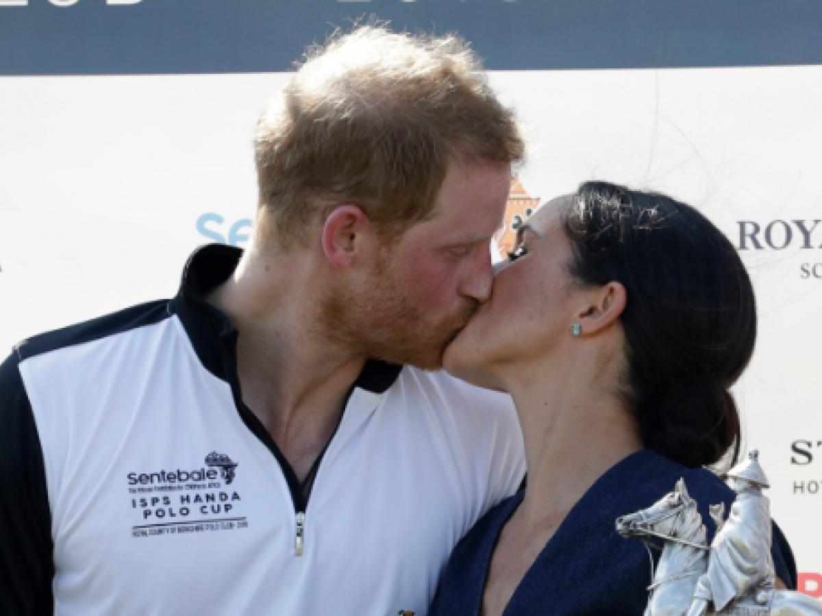 Románticos Meghan y Harry durante el Sentebale ISPS Handa Polo Cup