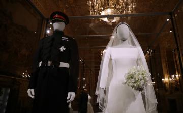 El vestido de novia de Meghan Markle ya está en exhibición en el Castillo de Windsor