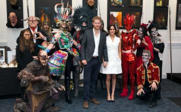 Los duques de Sussex son agasajados en acto maorí en un parque nacional neozelandés