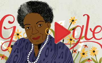 Google conmemora el 90 aniversario del nacimiento de Maya Angelou con doodle