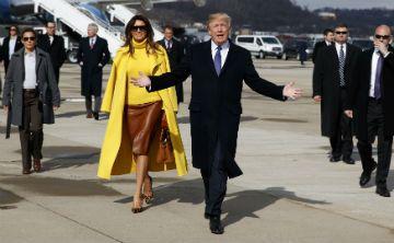 Melania Trump luce deslumbrante en su visita a Ohio