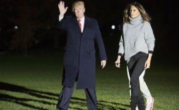 El suéter gris de Melania Trump