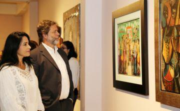 Celebración de arte en la sede de la Fundación Casa Cortés