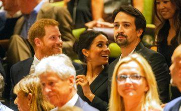 """Reaparecen los Duques de Sussex junto a  Lin-Manuel Miranda en el musical """"Hamilton"""""""
