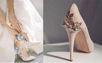 Perlas, encajes, flores y cristales, lo último en zapatos de novia