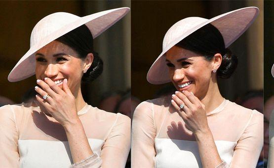 Meghan lució risueña y feliz en su primera aparición oficial tras la boda