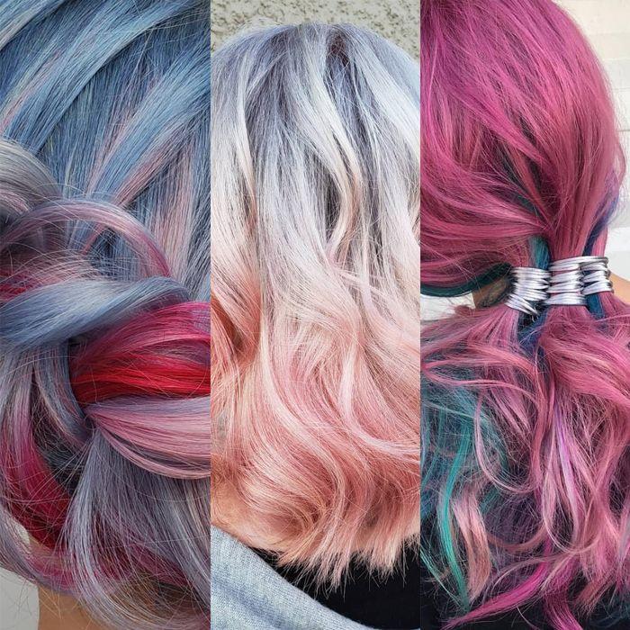 La excéntrica técnica de esta estilista que usa rolos de pintura para el pelo