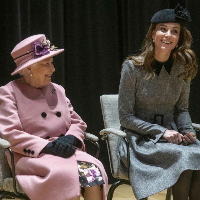 Rarísimo: Kate y la reina tuvieron un evento juntas