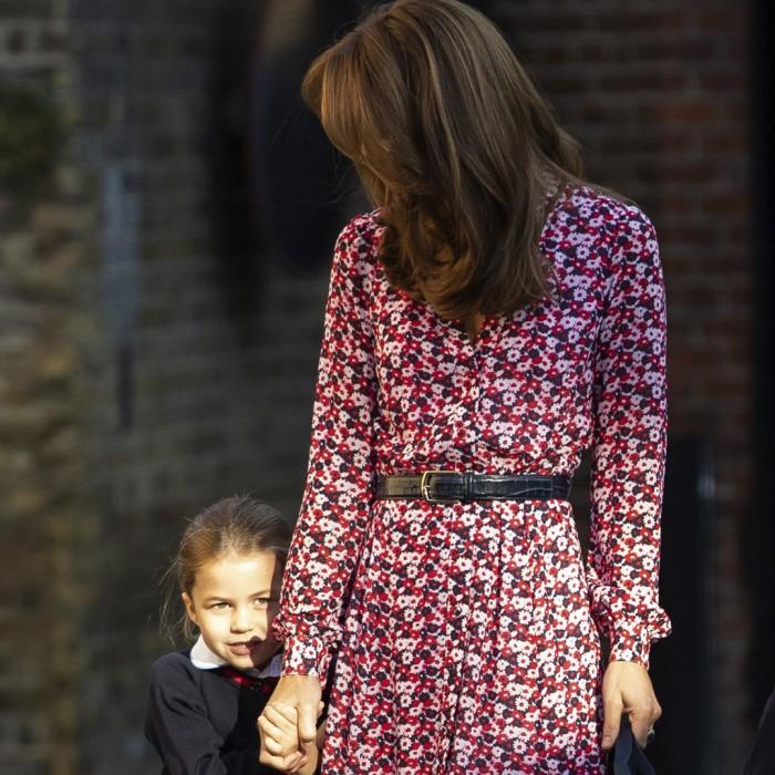 Así fue la llegada de la princesa Charlotte a su primer día de clases