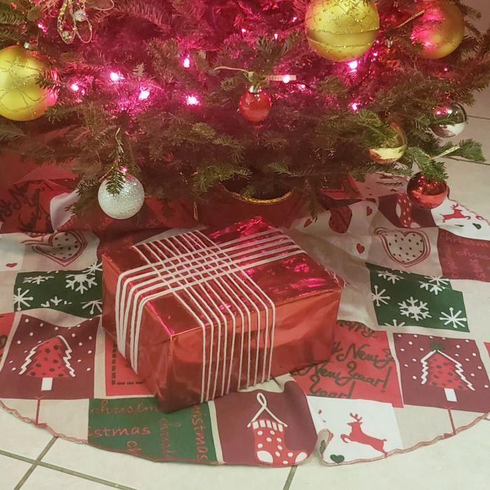 Hazlo tú: falda para el árbol de Navidad