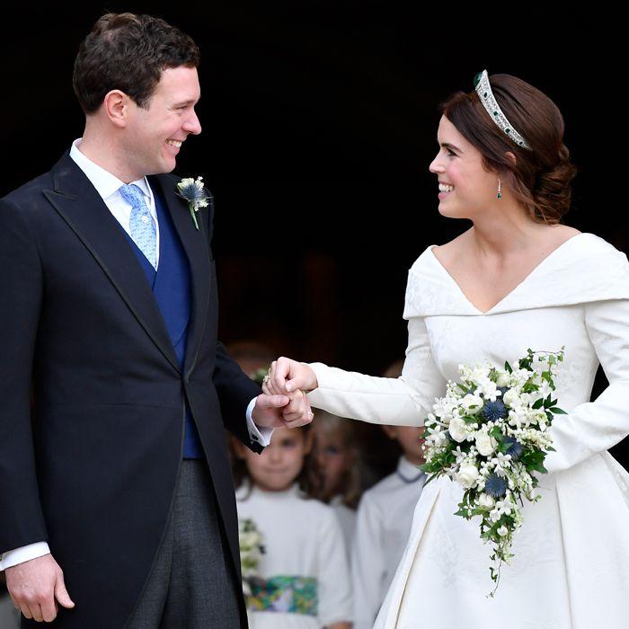 Lo que se vio (y no se vio) del vestido de la princesa Eugenie