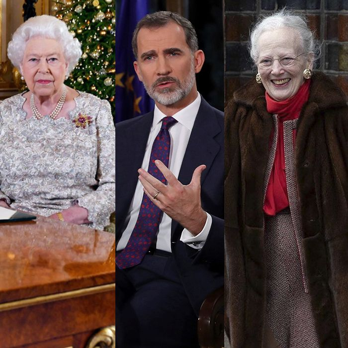 Los deseos de Navidad y fin de año de las familias reales
