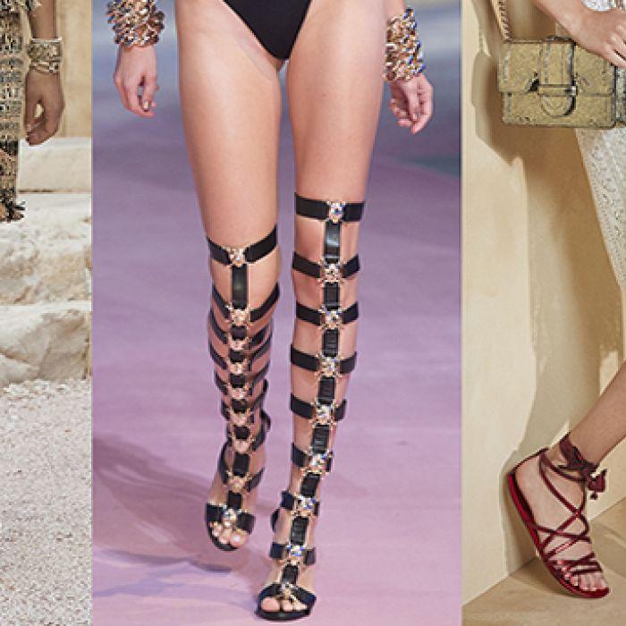 Gladiadoras: sandalias para pisar fuerte
