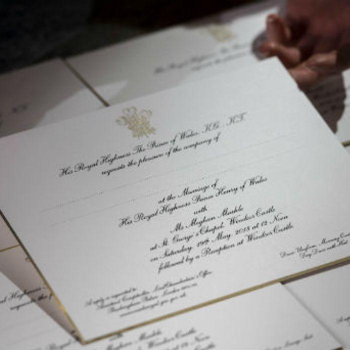 Listas las invitaciones para la boda del príncipe Harry y Meghan