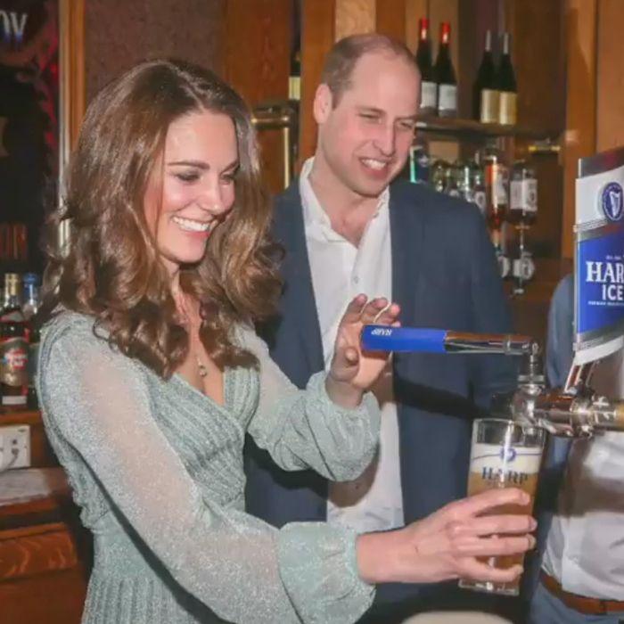 Kate y William fueron bartenders por una noche