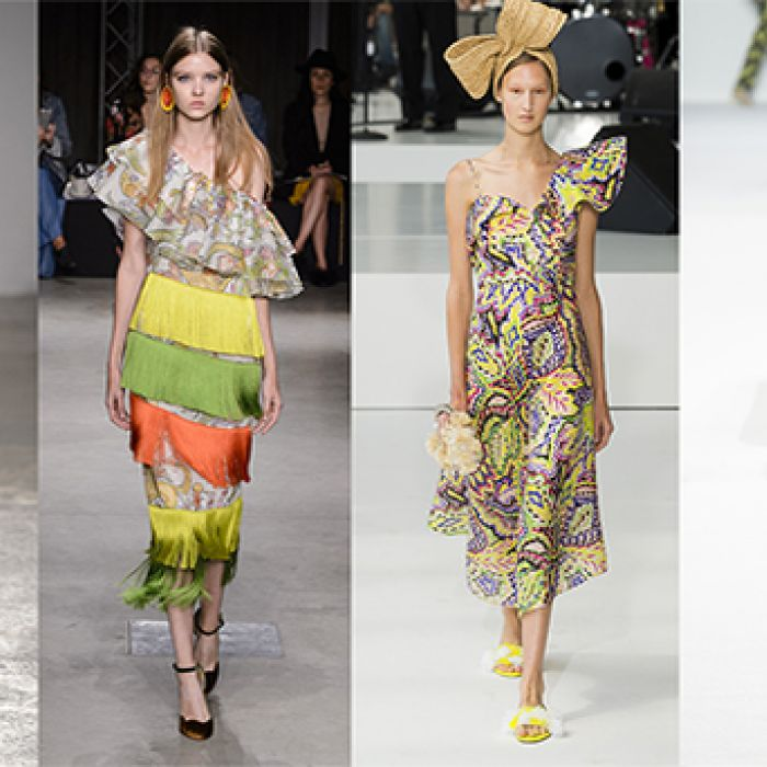 Opulencia tropical: te presentamos algunas prendas inspiradas en la naturaleza y climas cálidos