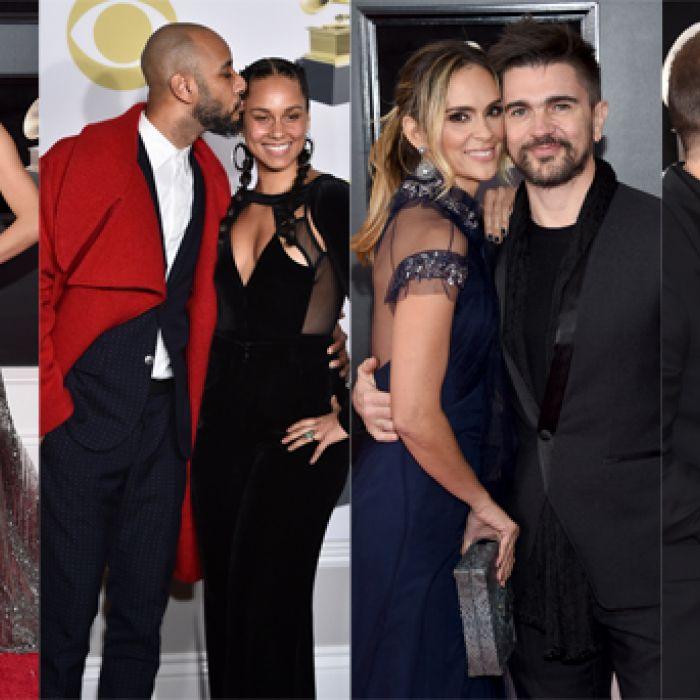 Las parejas que se lucieron en los Grammy