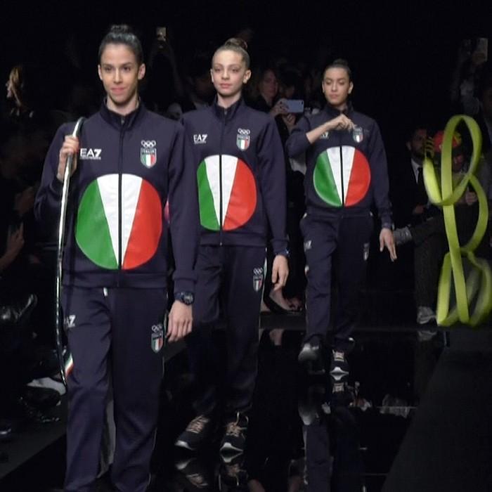 Los Juegos Olímpicos se suben a la pasarela: Armani presentó el uniforme de Italia