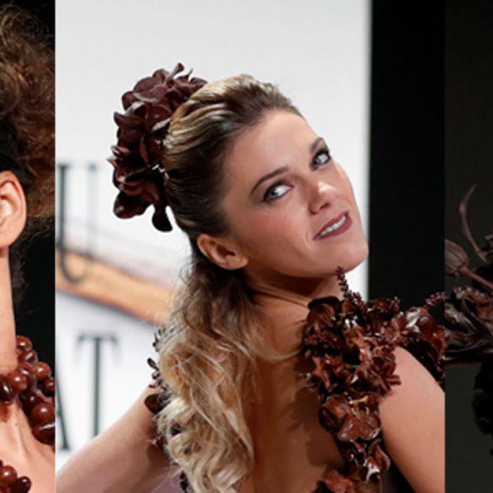 Estos vestidos hechos con chocolate conquistaron a París
