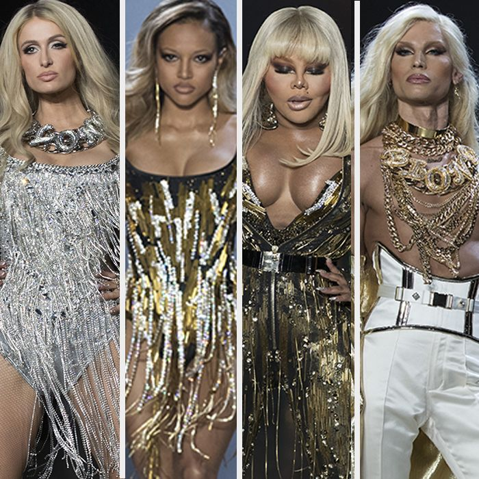 Paris Hilton, Lil' Kim y Karrueche Tran animaron el desfile de The Blonds