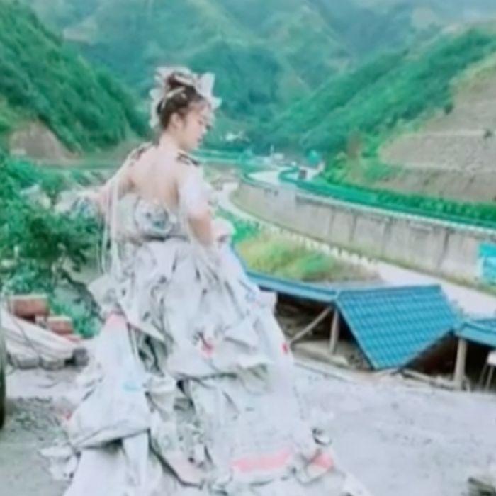 a3efb5eaa No vas a poder creer de qué está hecho este vestido de novia