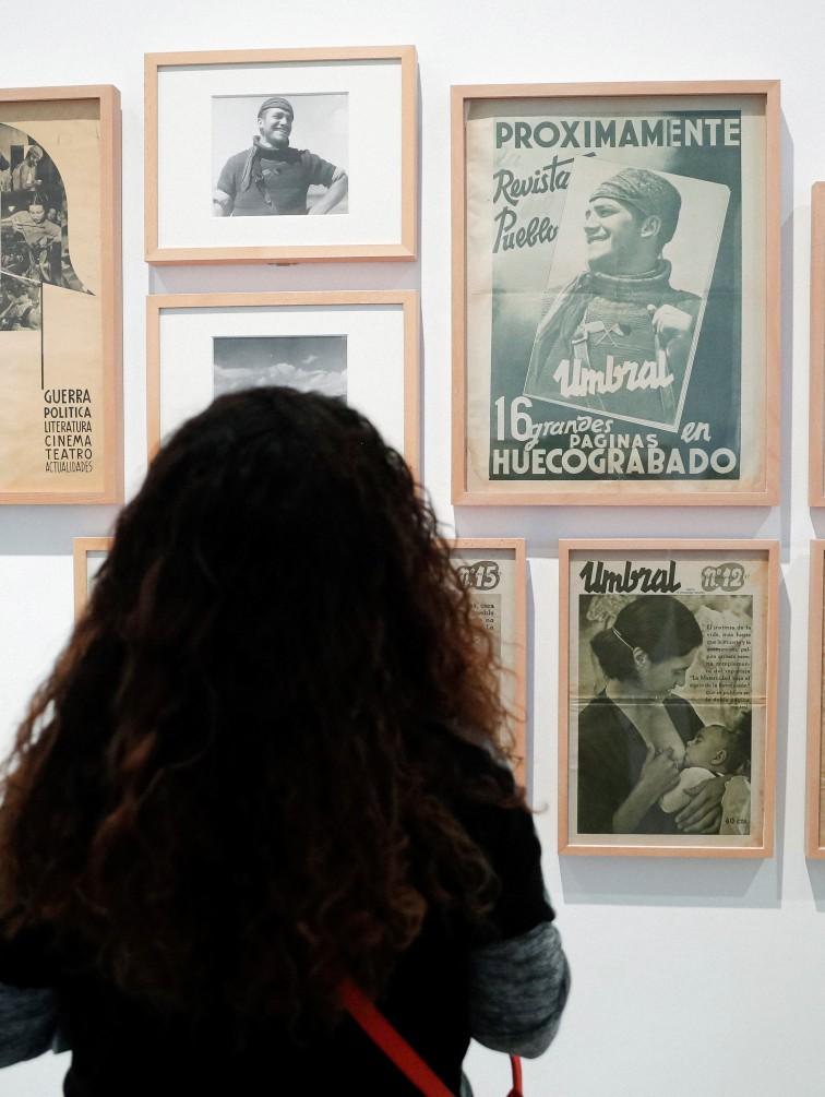 """Una de las obras que forman parte de """"Frente y retaguardia: Mujeres en la Guerra Civil"""", el nuevo espacio de la colección permanente del Museo Reina Sofía que estará dedicado al papel de las mujeres durante el periodo bélico presentado junto a las actividades programadas con motivo del 8M. EFE/Emilio Naranjo"""